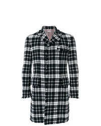 Thom Browne Tweed Tartan Check High Armhole Chesterfield Overcoat