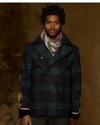 Denim & Supply Ralph Lauren Soutache Plaid Pea Coat