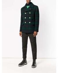 Tartan double breasted coat medium 7862980