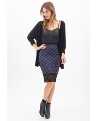 Plaid lace pencil skirt medium 92123