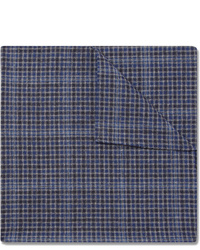 Oliver Spencer Checked Cotton Pocket Square