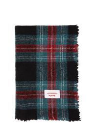 Charles Jeffrey Loverboy Blue Wool Tartan Blanket Scarf