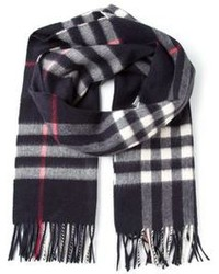 Burberry House Check Fringed Scarf