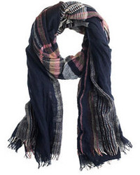 Crinkle plaid scarf medium 101765