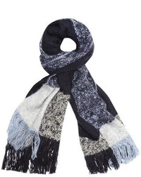 Dorothy Perkins Navy Check Blanket Scarf