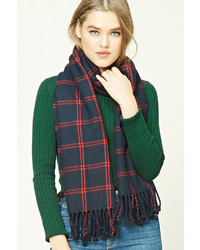 Forever 21 Flannel Plaid Tasseled Scarf