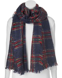 Manhattan Accessories Co Plaid Oblong Blanket Scarf