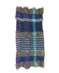 Y's by Yohji Yamamoto Multicolor Plaid Scarf