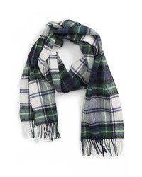 Barbour New Check Lambswool Cashmere Scarf