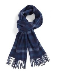Nordstrom Shop Large Plaid Wool Scarf