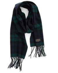 Plaid wool scarf medium 827739
