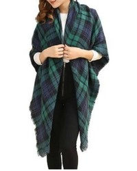 Natasha Couture Fashion Plaid Blanket Scarf