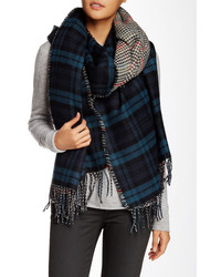 David & Young Plaid Blanket Scarf