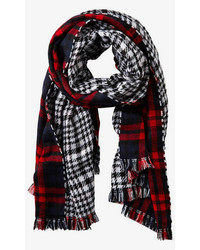 Reversible Double Plaid Blanket Scarf