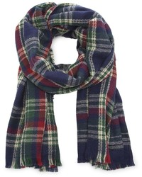 Sole Society Wool Plaid Scarf