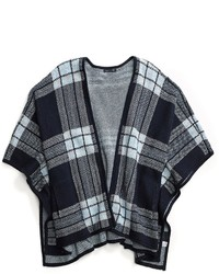 Tommy Hilfiger Plaid Shawl Poncho