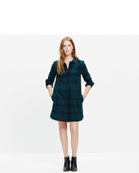 Madewell Latitude Shirtdress In Alma Plaid