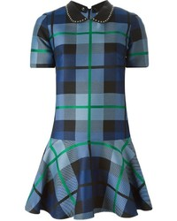 P a r o s h studded collar plaid dress medium 345333