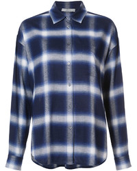 Vince Checked Boxy Shirt
