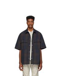 Fear Of God Black And Navy Oversized Nylon Shirt