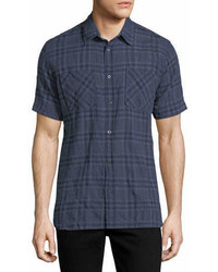 Billy Reid Clarence Plaid Cotton Shirt