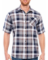 Ecko Unlimited Ecko Unltd Short Sleeve Plaid Button Front Shirt Big And Tall