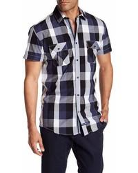 English Laundry Plaid Short Sleeve Regular Fit Shirt