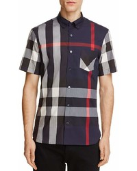 Burberry Thornaby Plaid Regular Fit Button Down Shirt