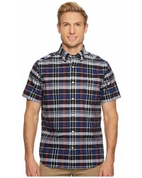 Nautica Wear To Work Short Sleeve Plaid Shirt Clothing