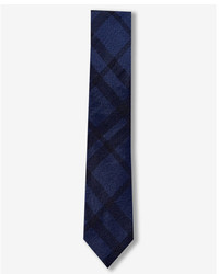 Express Plaid Slim Silk Tie