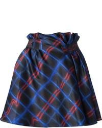 Kenzo Neon Plaid Skirt