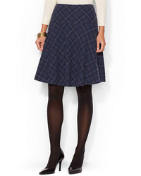 Plaid fit and flare skirt medium 155886