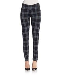 Plaid ponte knit leggings medium 717056