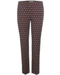 Prada Plaid Virgin Wool Blend Trousers
