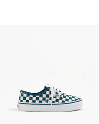 Vans Kids Authentic Checkered Sneakers In Smaller Sizes