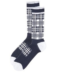 White Mountaineering Check Pattern Socks