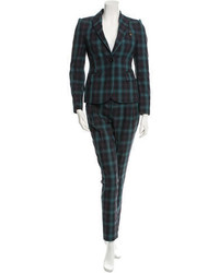Plaid print pant suit medium 716438