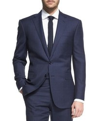 Ralph Lauren Prince Of Wales Two Piece Plaid Suit Navy