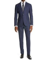 Emporio Armani Slim Fit Plaid Suit