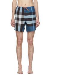 Burberry Blue Check Martin Swim Shorts