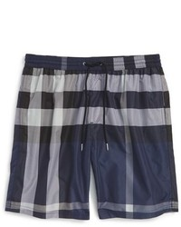 d4f350bba2 Burberry British Seaside Coastal Print Swim Trunks Steel Blue Out of stock  · Burberry Brit Gowers Check Swim Trunks