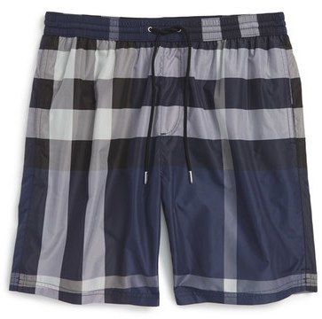 28e89aad57e Burberry Brit Gowers Check Swim Trunks, $295 | Nordstrom | Lookastic.com