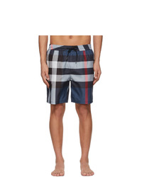 Burberry Navy Check Guildes Swim Shorts