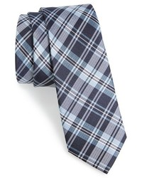 Plaid silk tie medium 442952