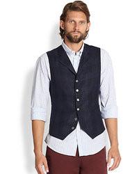 Brunello Cucinelli Linenwoolsilk Plaid Vest