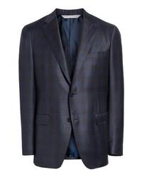 Samuelsohn Classic Fit Plaid Wool Sport Coat