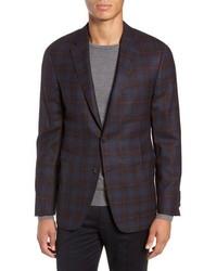Hickey Freeman Classic Fit Plaid Wool Sport Coat