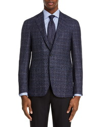 Canali Fit Plaid Wool Sport Coat