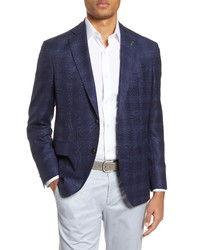 Ted Baker London Fit Plaid Wool Travel Sport Coat