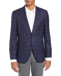 BOSS Jewels Classic Fit Plaid Wool Sport Coat